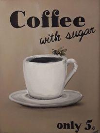 Malerei, Kaffee, Biene