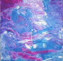 Pink, Blau, Spachteltechnik, Lila