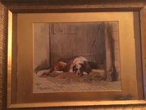 Hund, Malen, Links, Circa
