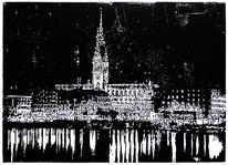 Nebenbeigekritzel, Licht, Silhouette, Hamburg