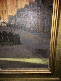 Malerei, Hilfe, 1945, Berge