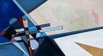 Dreieck, Abstrakt, Malerei, Fläche
