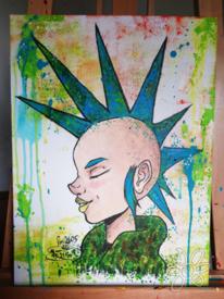 Acrylmalerei, Fini2605, Punker, Textur