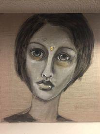 Göttin cliodna, Frau, Malerei