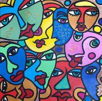Menschen, Abstrakt, Mann, Gesicht
