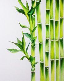 Malerei, Zeichnen, Bambus, Schminke