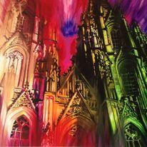 Malerei, Acrylfarb, Expressionismus, Tusche