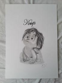 Kinderfilm, Zeichnung, Wild, Grafit