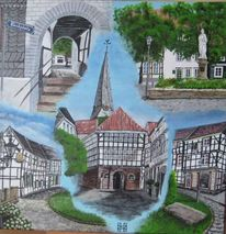 Altstadt, Gebäude, Hattingen, Malerei