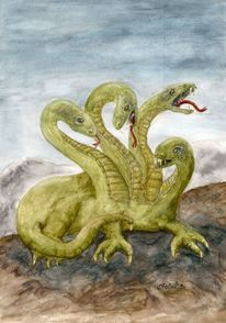 Mythologie schlange, Mystik, Mehrköpfigeswesen, Magie
