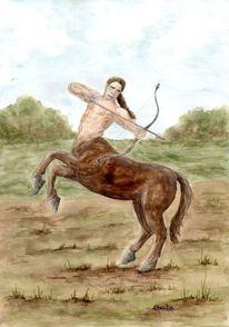 Fantasie, Pferde, Zentaur, Mystik