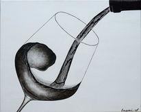 Fest, Acrylmalerei, Luxus, Rotwein