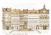 Jena, Stadtansicht, Deutschland, Historische