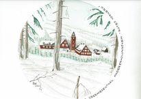 Oberwiesenthal, Erzgebirge, Historische, Rotes vorwerk