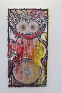 Mischtechnik, Malerei, Abstrakt, Freak