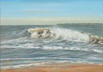 Wasser, Malerei, Welle, Licht