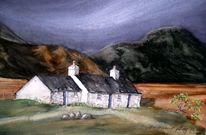 Schottland, Aquarell, Landschaft,