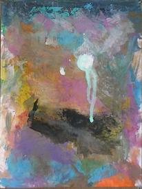 Klecks, Rosa, Abstrakte malerei, Abstrakter expressionismus