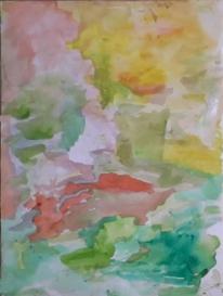 Abstrakt, Abstrakter expressionismus, Aquarellmalerei, Aquarell