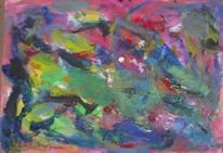 Abstrakte malerei, Bunt, Abstrakter expressionismus, Gouachemalerei