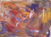 Informel, Orange violett, Abstrakte malerei, Abstrakter expressionismus