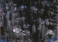 Abstrakte malerei, Abstrakt, Schwarz weiß, Monochrom