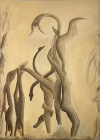 Surreal, Beige, Abstrakt, Sepia