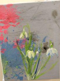 Blumen, Frühling, Schneeglöckchen, Malerei