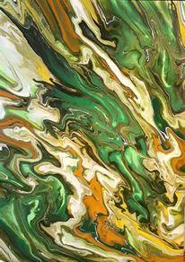 Gelb, Grün, Ocker, Malerei