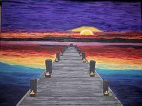 1 000 Acrylmalerei Sonnenuntergang Bilder Und Ideen Auf Kunstnet