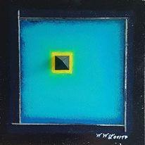 Spiegel, Pyramide, Frisch, Blau