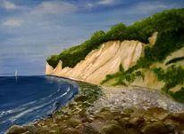 Blau, Jasmund, Ostsee, Kreideküste