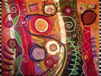 Malerei acryl, Farben, Malerei modern, Abstrakt