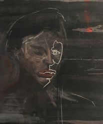 Malerei modern, Menschen, Portrait, Malerei