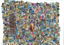 Collage, Kino, Farben, Tanz