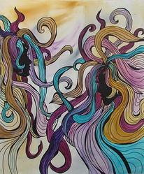 Modern art, Menschen, Acrylmalerei, Malerei