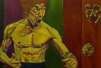 Brucelee, Menschen, Modern art, Rot