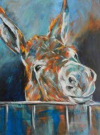 Esel, Malerei, Acrylmalerei, Farben