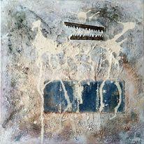 Abstrakt, Kasein, Malerei,