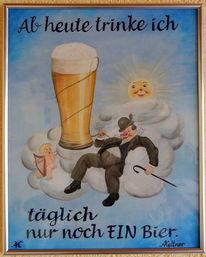 Weißbier, Wolken, Engel, Himmel