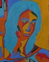 Malerei, Expressionismus, Gelb, Temperamalerei