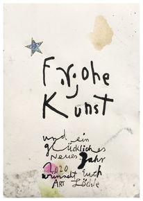 Yes, Postkarte, Yesart, Mischtechnik