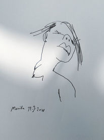 Monika, Skizze, Meine schwester, Zeichnungen