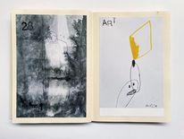 Zeichnung, Skizzenbuch, Art löchle, Zeichnungen