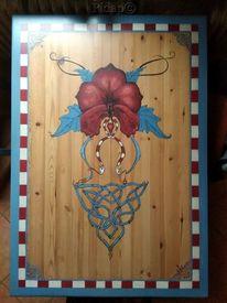 Holz, Maserung, Blumen, Möbel