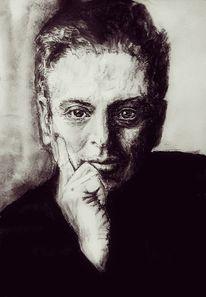 Portrait, Mann, Projekt, Fokus