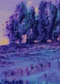 Schnee, Winter, Landschaft, Malerei