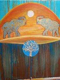 Sonne, Lebensraum, Afrika, Elefant