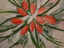 Blumen, Tulpen, Acrylmalerei, Malerei