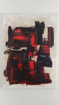Abstrakt, Malerei, Pinsel, Weiß